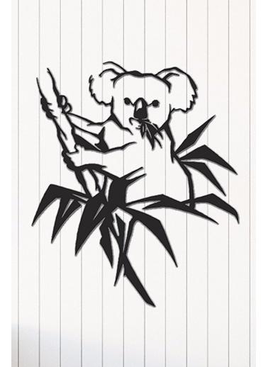 Angemiel Home Koala Metal Duvar Tablosu Siyah